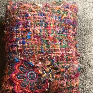 Pier 1 Colorful Embroidered Throw Pillow